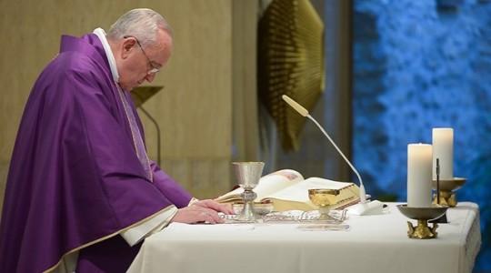 Papieska Msza w czwartek: miłosierdzie albo obłuda