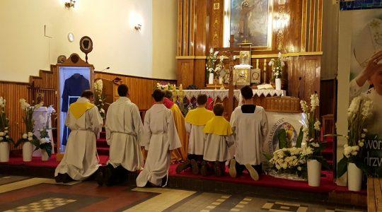 Peregrynacja relikwii świętego ojca Pio w parafii świętego Franciszka w Łodzi