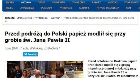 Europejskie i polskie media o wczorajszym wydarzeniu przy grobie świętego Jana Pawła II