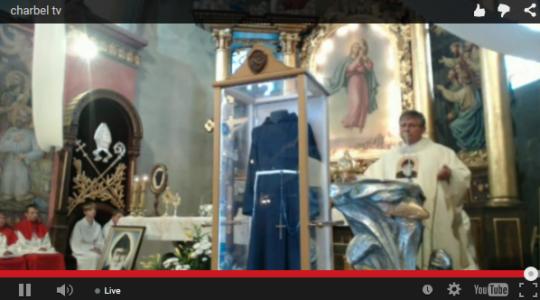 Msza św. i uczczenie relikwii św. O. Pio w Parafii Dobrego Pasterza w Istebnej
