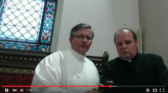 Rozmowa ks. Jarka z ks. proboszczem w Pszczewie min. o św. O. Pio