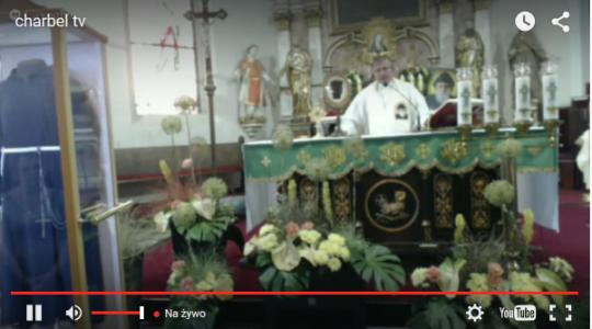 Transmisja Mszy św. przy relikwiach św. O.Pio oraz św.Charbela i św. Jana Pawła z Pszczewa