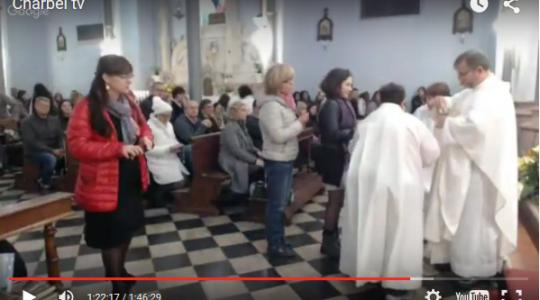 Wprowadzenie relikwii św. Jana Pawła II do miasta i parafii San Carlo w Uroczystość Wszystkich Świętych, 1.11.2015