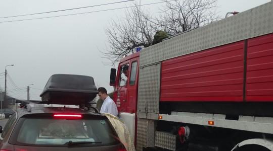 W Gorzkowie - z eskortą strażaków