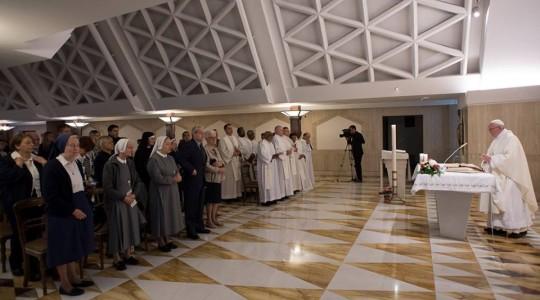 Franciszek na Mszy we wtorek: pamięć o działaniu Boga wzmacnia naszą wiarę