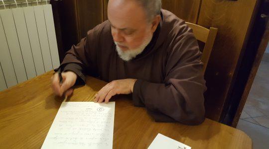 List wdzięczności dla księdza Jarka od O.Kapucynów