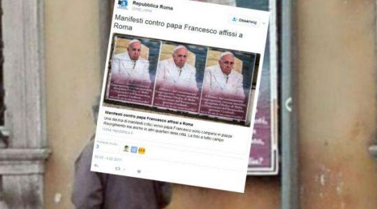 Wrogi atak na ojca świętego Franciszka w Rzymie ( Vatican Service News 04.02.2017)