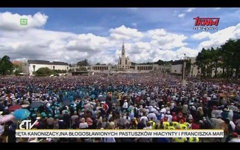 Drugi dzien pielgrzymki Ojca świetego w Fatimie 13.05.2017(Vatican Service News - 13.05.2017)