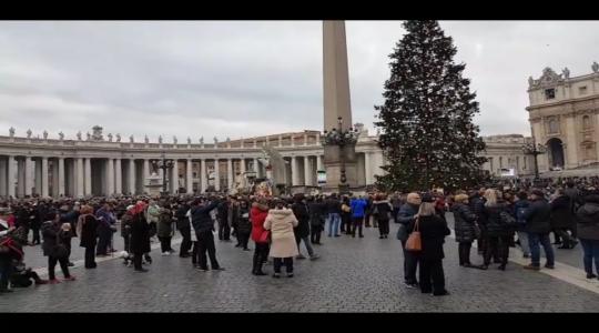 W dniu św. Szczepana Anioł Pański na Placu świętego Piotra (26.12.2017 Vatican Service News)