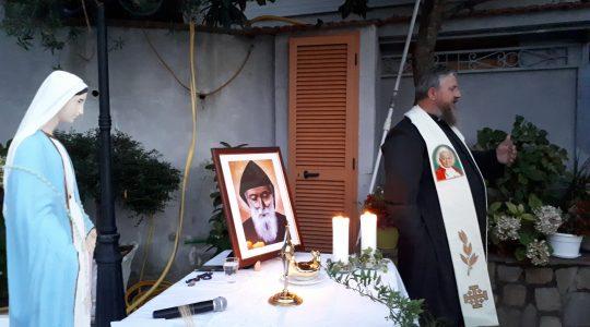 Modlitwa w Sorrento w ostatnim  dniu  nowenny do św. Charbela (24.07.2018)