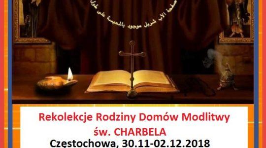 Rekolekcje Adwentowe dla rodziny Domów Modlitwy św. Charbela w Częstochowie  (25.09.2018)