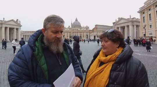 Z Angelą Ambrogetti z Placu Świętego Piotra (24.01.2019)