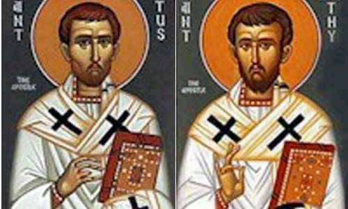 Święci biskupi Tymoteusz i Tytus (26.01.2019)