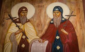 Święci Cyryl, mnich, i Metody, biskup patroni Europy (14.02.2019)