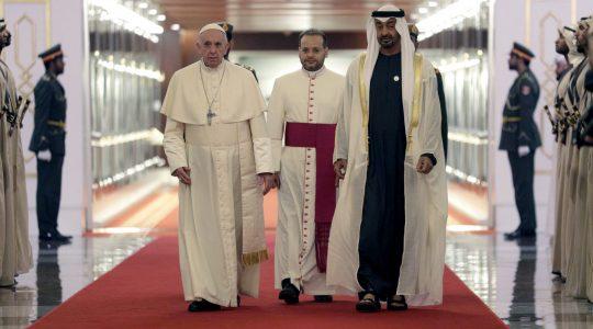 Papież Franciszek już w Emiratach Arabskich (4.02.2019)