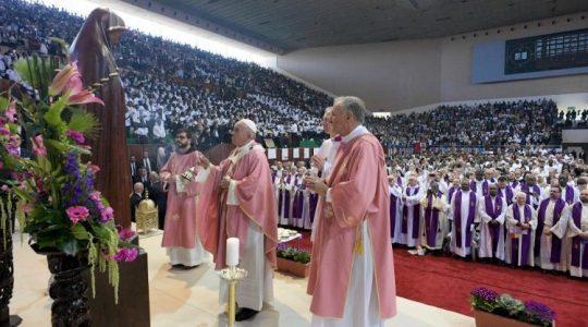 Uroczysta Msza święta papieża Franciszka w Rabacie (Vatican Service News - 01.04.2019)