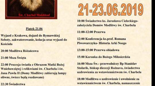 V Dni św. Charbela -pielgrzymka na Słowację w dniach 21-23 czerwca (29.05.2019)