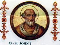 Święty Jan I, papież i męczennik (18.05.2019)