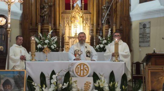 Ks. Jarosław w parafii sekretarza Episkopatu Polski  (19. 06. 2019)