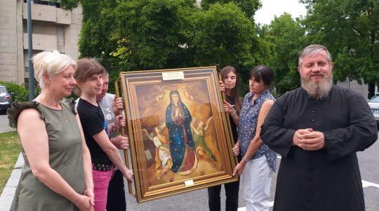 Z Maryją pielgrzymującą już w Italii (11.07.2019)