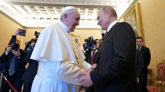 Putin na audiencji u Ojca Świętego Franciszka (Vatican Service News - 04 .07.2019)