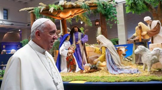Papież na wystawie szopek w pobliżu Watykanu (Vatican Service News - 10.12.2019)