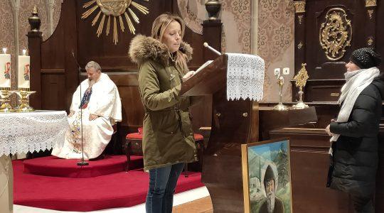 W Rożnawie - Eucharystia po polsku  (7.01.2020)