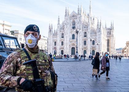 Panika wywołana koronawirusem w Italii(25.02.2020)