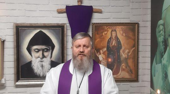 Primo insegnamento di padre Jarek-secondo giorno del ritiro 07.04.2020