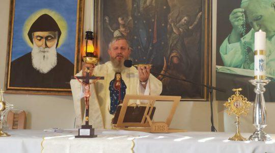 Transmisja Mszy Świętej-Najświętszej Maryi Panny Królowej 22.08.2020