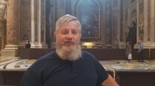 Ks. Jarek w bazylice św. Piotra-Padre Jarek nella basilica di San Pietro-11.09.2020