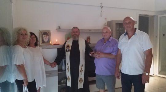 Wspólna modlitwa z rumuńską rodziną prawosławną (15.09.2020)