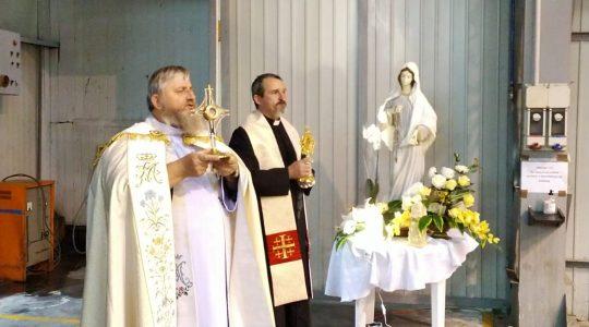 Modlitwa w fabryce koło Bielska-Białej (13.10.2020)