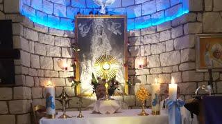 Program liturgii w parafii pw. Matki Bożej Wniebowziętej i św. Charbela we Florencji koło Iłży na zakończenie roku 2020 i początek 2021