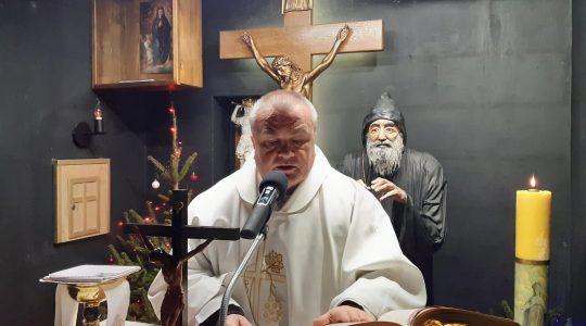 Transmisja Mszy Świętej z kaplicy św.Charbela w godzinę Miłosierdzia Bożego-Florencja 19.01.2021
