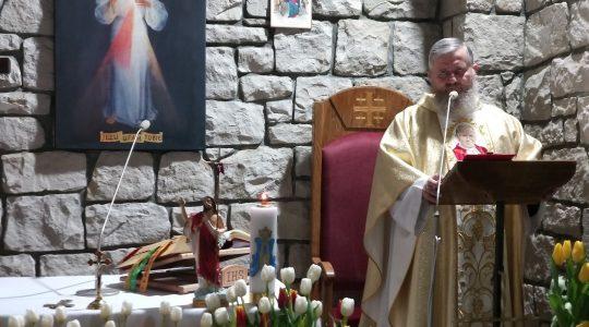 Transmisja Mszy Świętej o godz. 20.00-Niedziela Miłosierdzia Bożego,Florencja 11.04.2021