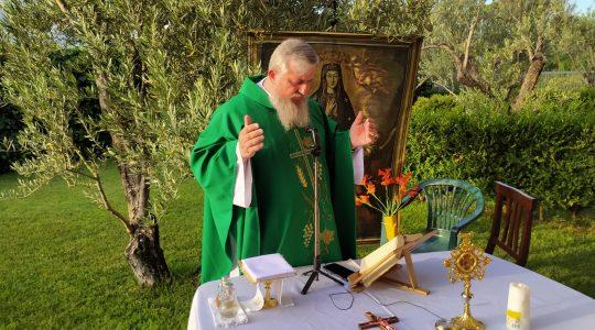 La Santa Messa in diretta alle ore 19.00-Padre Jarek in Italia ,13.07.2021