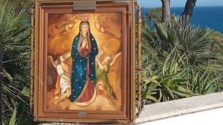 Saluto l'immagine della Madonna e catechesi di padre Jarek alle ore 18.00-Festa di San Charbel  24.07.2021