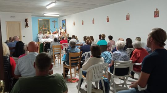 Kaplica św. Antoniego w Rossano Veneto była wypełniona wiernymi (2.10.2021)